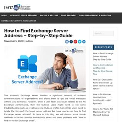 How to Find Exchange Server Address - Step-by-Step Guide