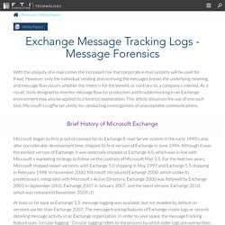 Exchange Message Tracking Logs - Message Forensics