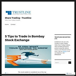 5 Tips to Trade in Bombay Stock Exchange