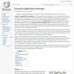 Ground-coupled heat exchanger