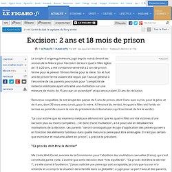 Excision: 2 ans et 18 mois de prison