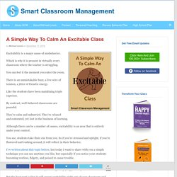 A Simple Way To Calm An Excitable Class