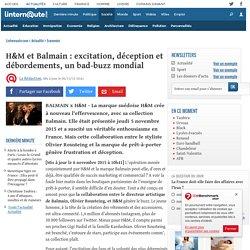 H&M et Balmain: excitation,déception et débordements, un bad-buzz mondial