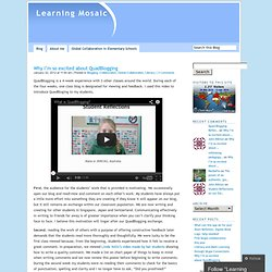 Why I'm so excited about QuadBlogging « Learning Mosaic