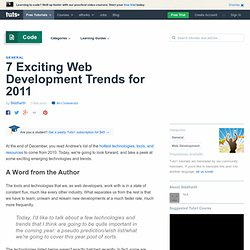 7 Exciting Web Development Trends for 2011