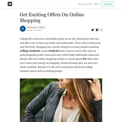 Get Exciting Offers On Online Shopping - Ronald Jacob - Medium