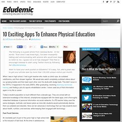 10 Exciting Apps To Enhance Physical Education