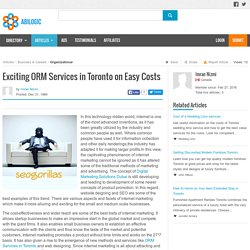 Exciting ORM Services in Toronto on Easy Costs