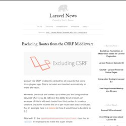 Excluding Routes from the CSRF Middleware