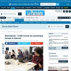 Saint-Denis : 2 500 exclus du numérique formés à Internet