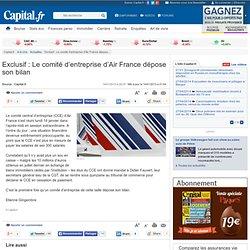 Exclusif : Le comité d'entreprise d'Air France dépose son bilan