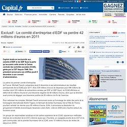 8 - Exclusif : Le comité d'entreprise d'EDF va perdre 42 millions d'euros en 2011