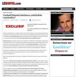 Lesinfos.com » Blog Archive » Exclusif/Députés fantômes: voic