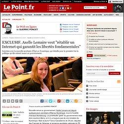 """Axelle Lemaire veut """"rétablir un Internet qui garantit les libertés fondamentales"""""""