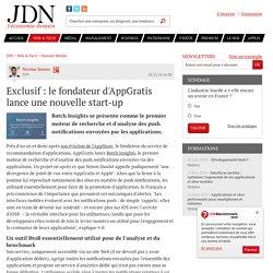 Exclusif : le fondateur d'AppGratis lance une nouvelle start-up