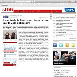 Exclusif : la note de la Fondation Jean-Jaurès sur le vote obligatoire