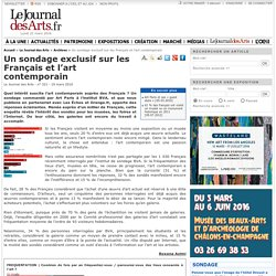 Un sondage exclusif sur les Français et l'art contemporain - Le Journal des Arts - n° 321 - 19 mars 2010