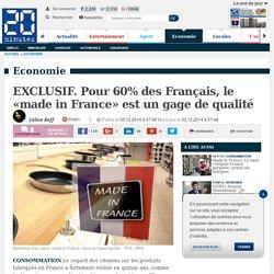 EXCLUSIF. Pour 60% des Français, le «made in France» est un gage de qualité