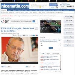 EXCLUSIF. François Léotard sort de son silence