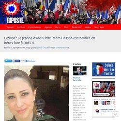 Exclusif : La Jeanne d'Arc Kurde Reem Hassan est tombée en héros face à DAECH