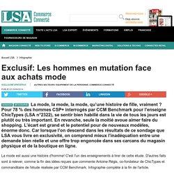 Exclusif: Les hommes en mutation face aux... - Textile, habillement