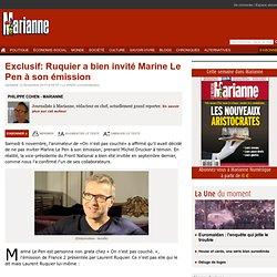 Exclusif: Ruquier a bien invité Marine Le Pen à son émission