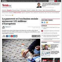 La pauvreté et l'exclusion sociale menacent 125 millions d'Européens