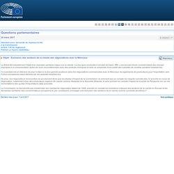 PARLEMENT EUROPEEN - Réponse à question E-002023-17 Exclusion des secteurs de la viande des négociations avec le Mercosur