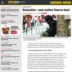 Exclusion : une notion fourre-tout