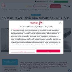 Exclusion numérique des personnes âgées étude Petits Frères des Pauvres