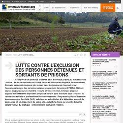 Lutte contre l'exclusion des personnes détenues et sortants de prisons