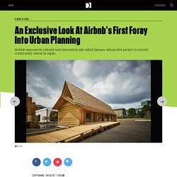 An Exclusive Look At Airbnb's First Foray Into Urban Planning