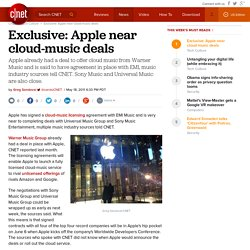 Exclusive: Apple near cloud-music deals