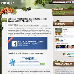 Exclusive Freebie: Ten Beautiful Facebook Covers as PSD, AI and EPS
