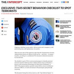 Exclusive: TSA's Secret Behavior Checklist to Spot Terrorists