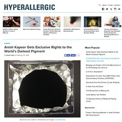 Anish Kapoor Gets Exclusive Rights to the World's Darkest Pigment