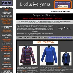 Exclusive Yarns - Designs and Patterns