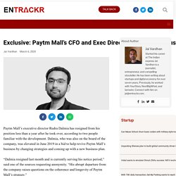 Exclusive:Paytm Mall's CFO and Director quits amidst business struggles