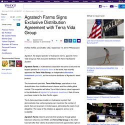 Agratech Farms Signs Exclusive Distribution Agreement with Terra Vida Group