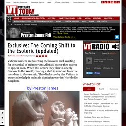 Exclusive: The Coming Shift to the Esoteric (updated)