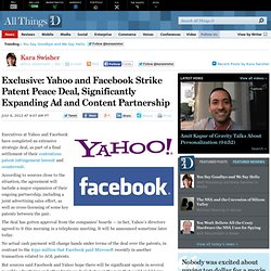 Exclusive: Yahoo and Facebook Strike Patent Peace Deal