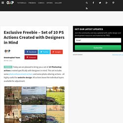 Exclusive Freebie - Set of 10 PS Actions Created with Designers in Mind