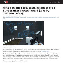 With a mobile boom, learning games are a $1.5B market headed toward $2.3B by 2017 (exclusive)