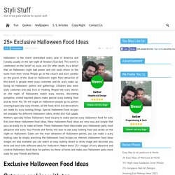 25+ Exclusive Halloween Food Ideas