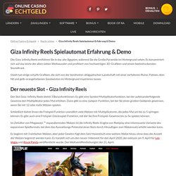 Leo Vegas Exclusive Giza Infinity Reels ➡ RTP 96.45 %