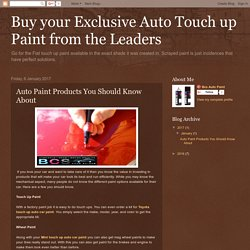 Buy your Exclusive Auto Touch up Paint from the Leaders : Auto Paint Products You Should Know About