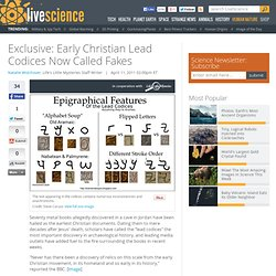 Exclusive: Early Christian Lead Codices Now Called Fakes