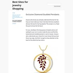Exclusive Diamond-Studded Pendants