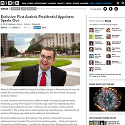Exclusive: First Autistic Presidential Appointee Speaks Out | Wired Science