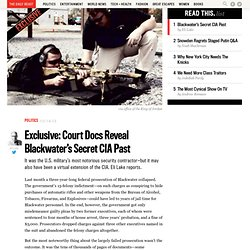 Exclusive: Erik Prince on Blackwater's Secret CIA Past